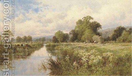 Near Great Marlow, on the Thames by Henry Hillier Parker - Reproduction Oil Painting