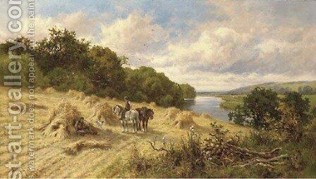 The midday rest by Henry Hillier Parker - Reproduction Oil Painting