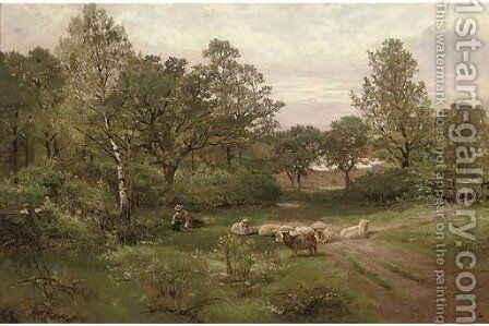 A summer afternoon near Tettenhall Wood, Staffordshire by Henry Hadfield Cubley - Reproduction Oil Painting