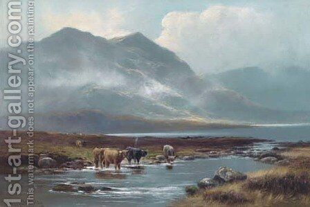 The head of Loch Long by Henry Hadfield Cubley - Reproduction Oil Painting