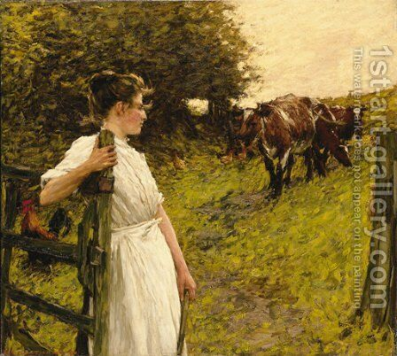 Back from the Common, Heyshott, West Sussex by Henry Herbert La Thangue - Reproduction Oil Painting