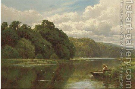The Thames at Pangbourne by Henry Hillier Parker - Reproduction Oil Painting