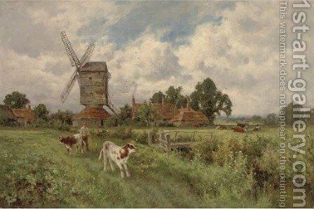 Changing pastures by Henry Hillier Parker - Reproduction Oil Painting