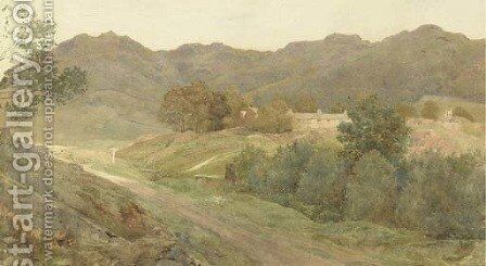 A view in the Lake District by Henry Holiday - Reproduction Oil Painting