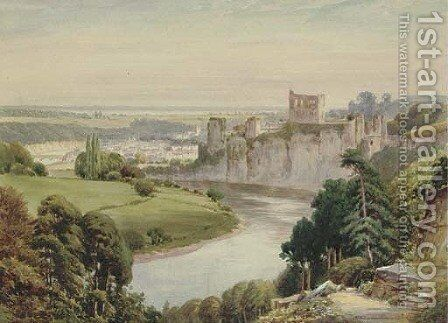 Chepstow Castle by Henry Hughes Richardson - Reproduction Oil Painting