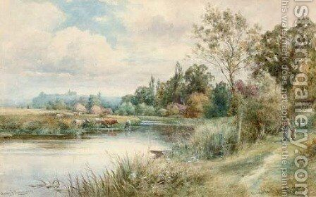 Arundel Castle from Burpham, Sussex by Henry John Kinnaird - Reproduction Oil Painting