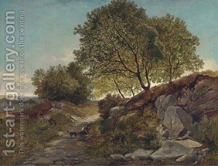 Gathering firewood by Henry John Boddington - Reproduction Oil Painting