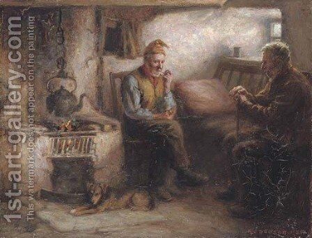 A fireside crack by Henry John Dobson - Reproduction Oil Painting