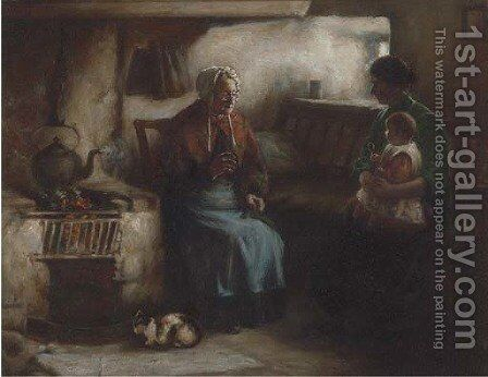 Visiting grandma by Henry John Dobson - Reproduction Oil Painting