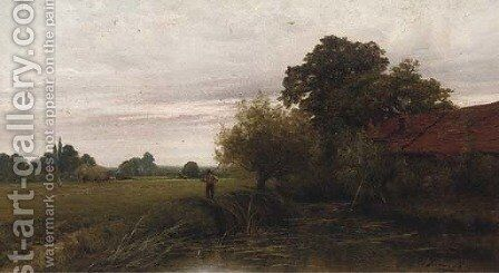 A backwater on the Thames, near Sonning by Henry John Kinnaird - Reproduction Oil Painting