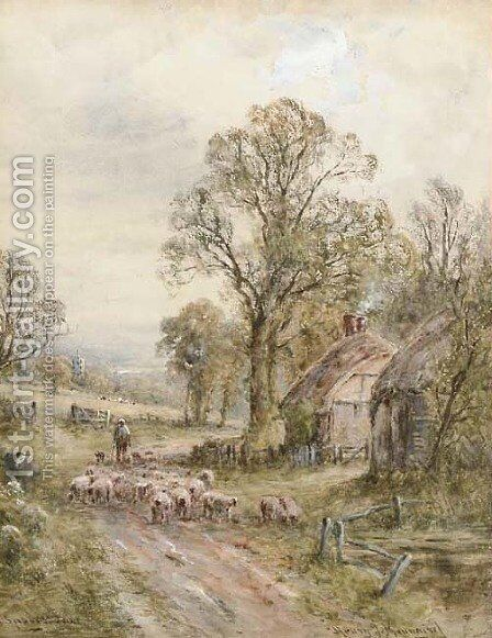 A country lane by Henry John Kinnaird - Reproduction Oil Painting