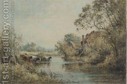 Old mill, near Winchester by Henry John Kinnaird - Reproduction Oil Painting