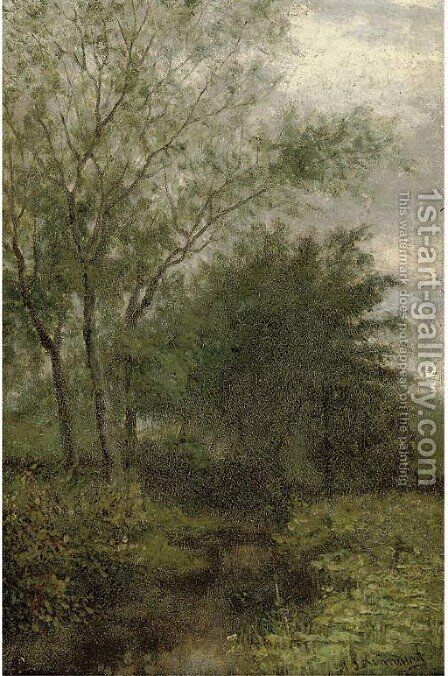 The woodland stream by Henry John Kinnaird - Reproduction Oil Painting