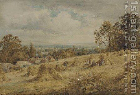 View near Amberley, Sussex by Henry John Kinnaird - Reproduction Oil Painting