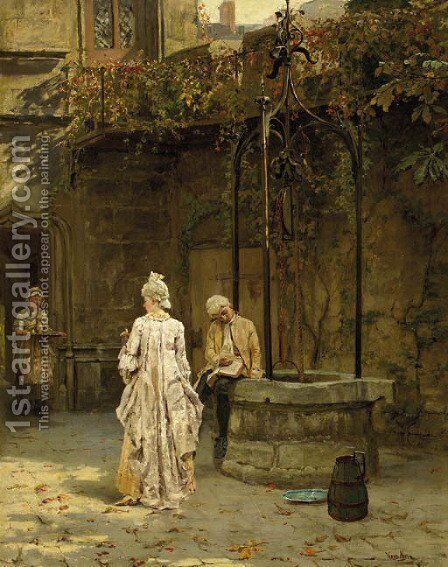 Young lovers interrupted by Henry John Yeend King - Reproduction Oil Painting