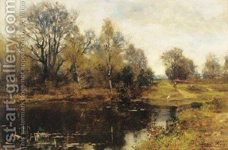 A woodland pool by Henry John Yeend King - Reproduction Oil Painting