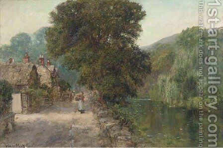 The riverside path by Henry John Yeend King - Reproduction Oil Painting