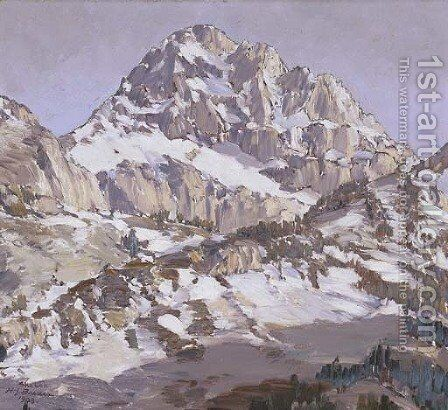 Mountain Peak by Henry Joseph Breuer - Reproduction Oil Painting