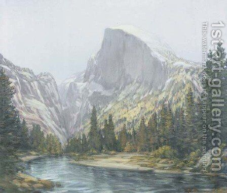 Royal Arch, Half Dome, Yosemite by Henry Joseph Breuer - Reproduction Oil Painting