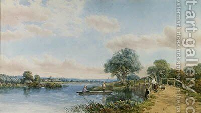 The Thames, near Maidenhead, Berkshire by Henry Jutsum - Reproduction Oil Painting