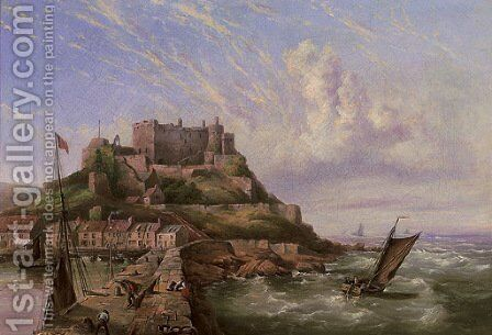 Mount Orgueil, Gorey, Jersey by Henry King Taylor - Reproduction Oil Painting