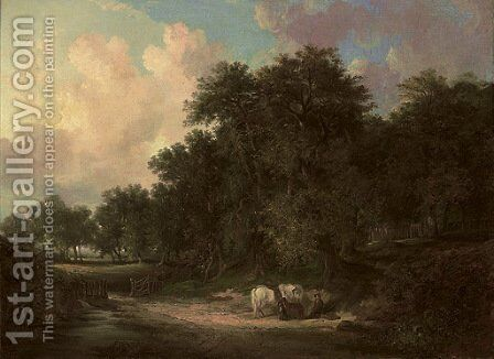 View in Pelax Wood, Durham by Henry Ladbrooke - Reproduction Oil Painting