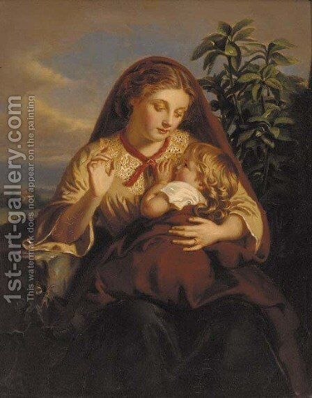 A Mother's Joy by Henry Le Jeune - Reproduction Oil Painting