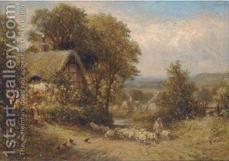 A country lane near Horsham, Sussex by Henry Maidment - Reproduction Oil Painting
