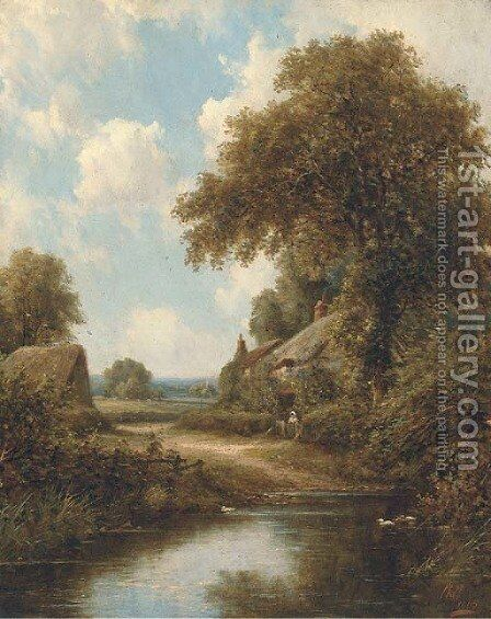 The duck pond 2 by Henry Maidment - Reproduction Oil Painting