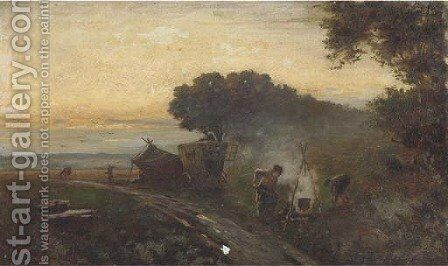 The gypsy encampment by Henry Martin - Reproduction Oil Painting