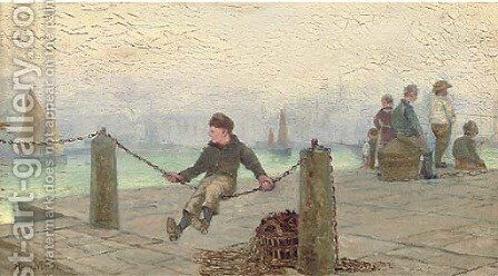 Waiting for the boats by Henry Martin - Reproduction Oil Painting