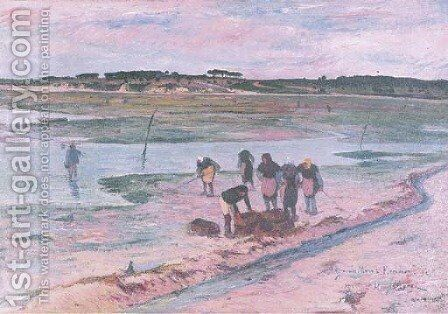 Grande maree a Keroman by Henri Moret - Reproduction Oil Painting