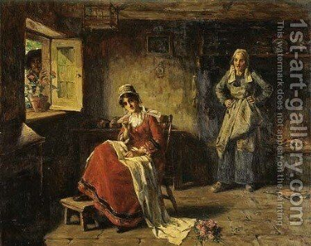 The Secret Visitor by Henry Mosler - Reproduction Oil Painting