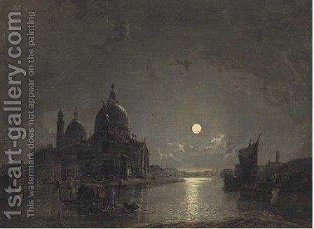 Santa Maria della Salute from the Grand Canal by Henry Pether - Reproduction Oil Painting