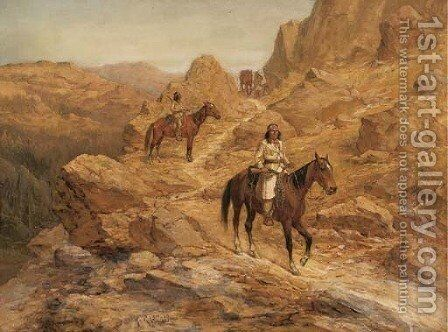 Geronimo by Henry Raschen - Reproduction Oil Painting