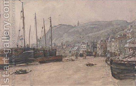 View of Hastings by Henry Robert Robertson - Reproduction Oil Painting