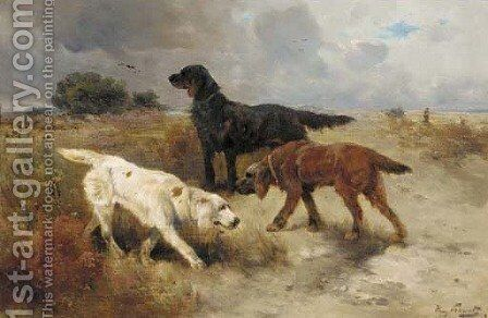 Gundogs by Henry Schouten - Reproduction Oil Painting