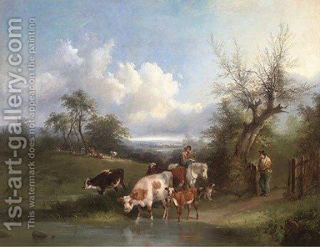 The watering places by Henry Shayer - Reproduction Oil Painting