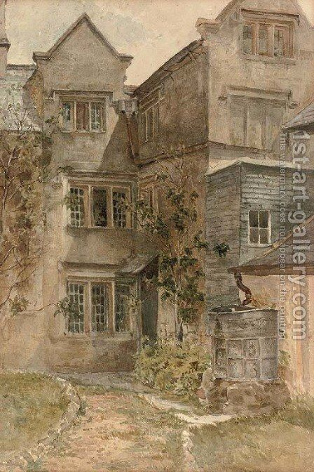 Bovey House, Beer, Devon by Henry Sheppard Dale - Reproduction Oil Painting