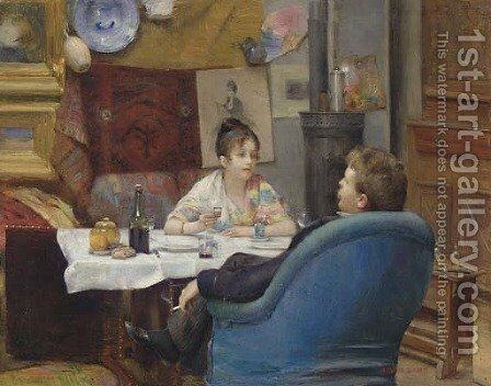 Studio Lunch by Henry Siddons Mowbray - Reproduction Oil Painting