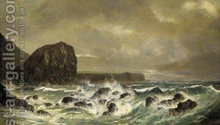 The Lyon Rock, Cornwall by Henry Spernon Tozer - Reproduction Oil Painting