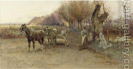 Autumn Melody by Henry Sykes - Reproduction Oil Painting