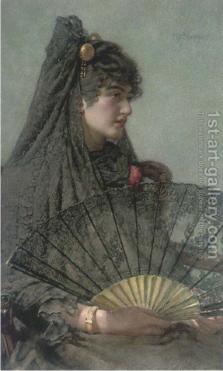 Spanish lady by Henry Sykes - Reproduction Oil Painting