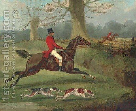 About to Jump the Ditch by Henry Thomas Alken - Reproduction Oil Painting