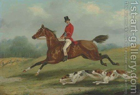 At Full Gallop by Henry Thomas Alken - Reproduction Oil Painting