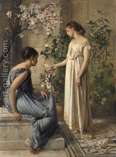 Spring Blossoms by Henry Thomas Schafer - Reproduction Oil Painting