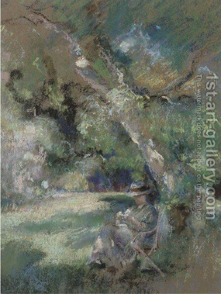 In the shade by Henry Tonks - Reproduction Oil Painting