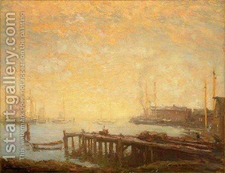 The Harbor by Henry Ward Ranger - Reproduction Oil Painting