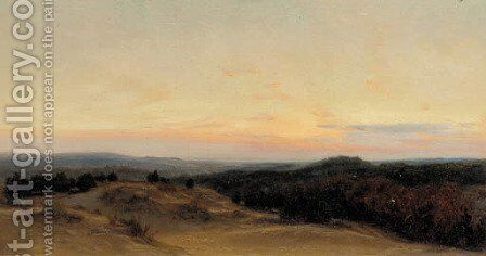 Sunset over the dunes by Henry William Banks Davis - Reproduction Oil Painting