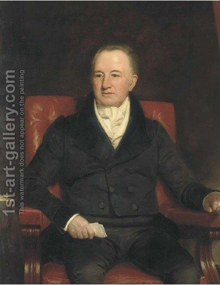Portrait of Sir Charles Morgan by Henry William Pickersgill - Reproduction Oil Painting